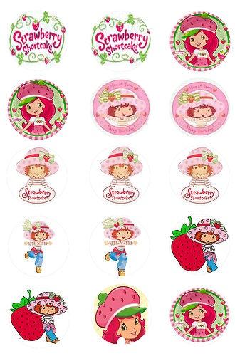 "15 Precut 1"" Strawberry Shortcake Bottle Cap Images High Quality | eBay"