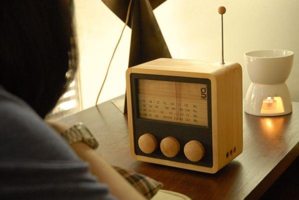 Magno 4 Band Cube Radio    Designed by Singgih Kartono drawing inspiration from classic cubic radio in the 70s. This cube wooden radio represent a one-of-a-kind piece, crafted by hand for 16 hours.