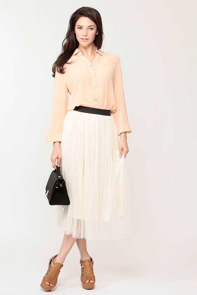 Pleated Tulle Skirt 121