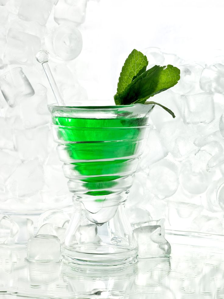 Green light - Rum, mint liquor and lime juice. One of the limited edition ice cocktails available at the Principe Bar from 4 to 30 September.