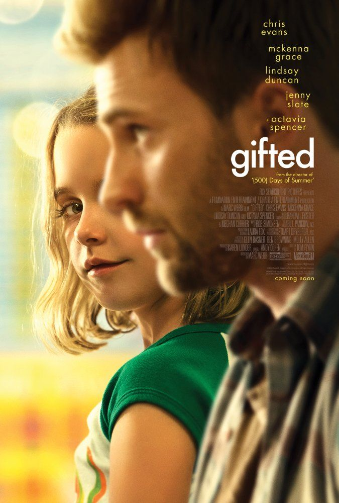 GIFTED (2017): Frank, a single man raising his child prodigy niece Mary, is drawn into a custody battle with his mother.
