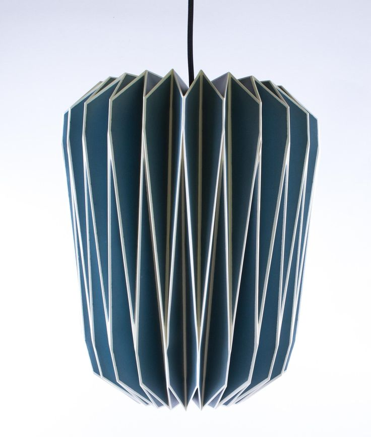 paper lighting. origami lampshade blue paper light shade lighting