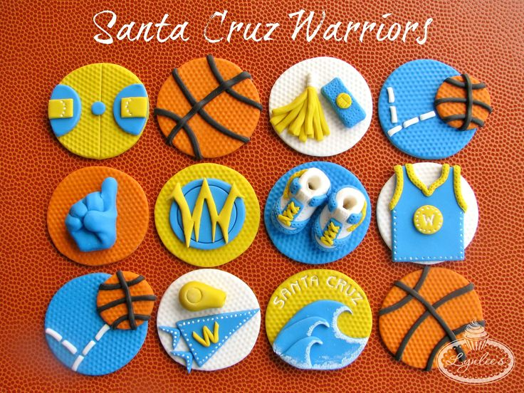 https://flic.kr/p/dESWMA | Santa Cruz Warriors Cupcake Toppers