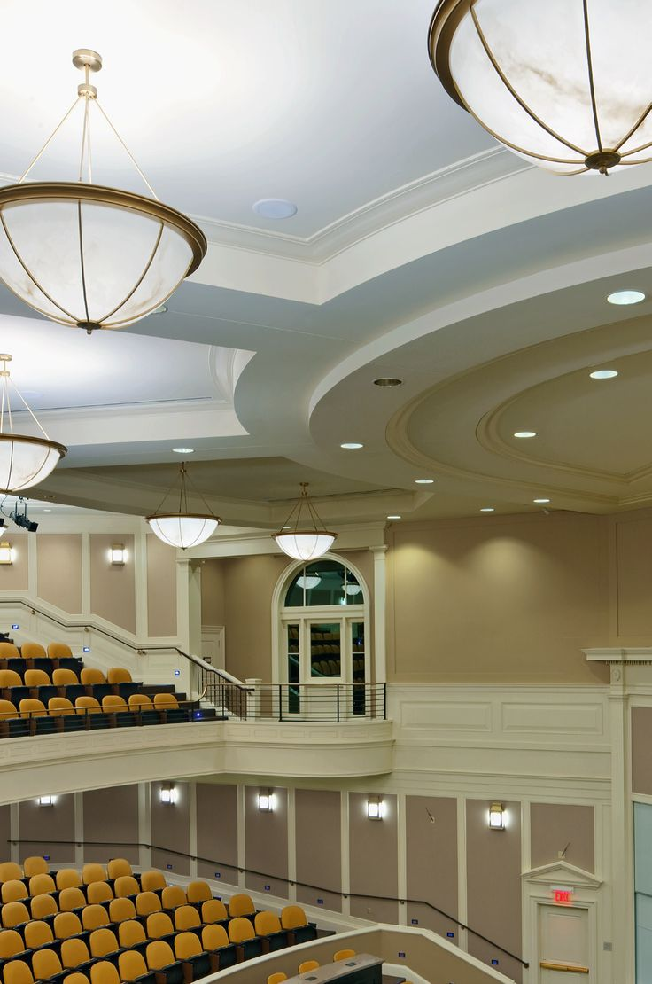 Wac lighting hr hl 4 low voltage new construction housing recessed can light - Shaper Chandeliers Auditorium At Farmer School Of Business Miami Univ Oxford