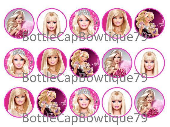 Bottle Cap Images - Barbie  - Barbie Bottle Cap Images - Doll Cap Images - Caps $0.99