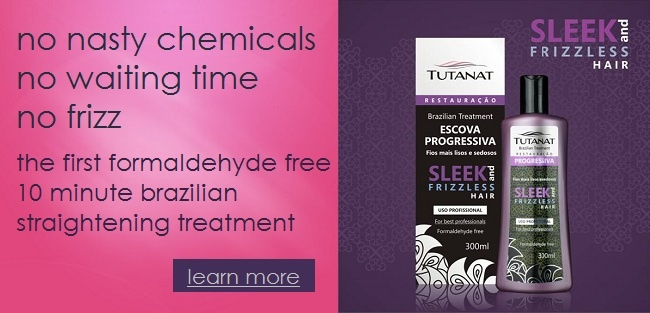 Tutanat Brazilian Straightening Treatment.  No downtime.  No Nasty Chemicals.  Lasts up to 3 months.