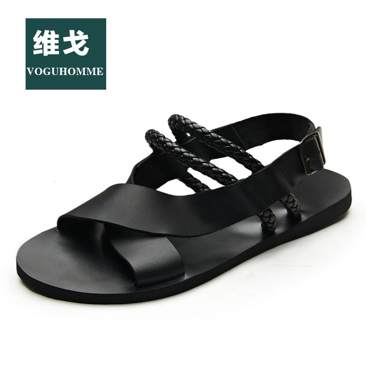 Vogu homme sandals male cowhide male sandals genuine leather summer breathable sandals male $45.98