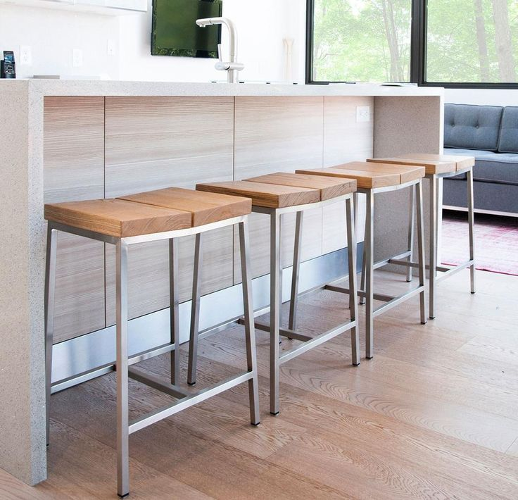 Furniture Design, Kitchen Room Design Idea Also Beautiful New Style  Backless Bar Stool Dsign Idea