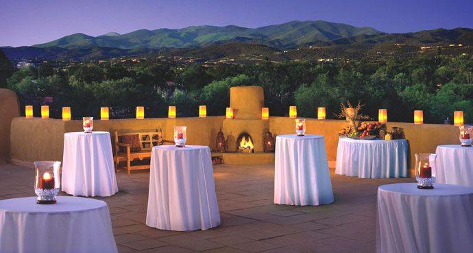 Wedding Setting at the Eldorado Hotel & Spa, Santa Fe, New Mexico