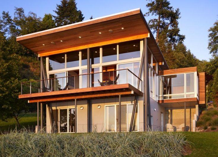 18 best modern cabin images on pinterest modern cabins for Beach house kit designs