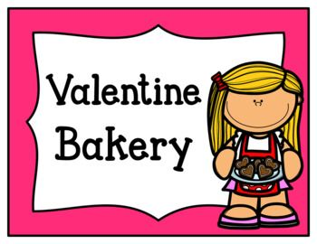 Add some extra fun to Valentine's Day with this fun pretend play valentine bakery pack. Each page comes in color and black and white. Pages Included: -Valentine Bakery Sign -Tips & Ideas Page -Bakery Menu -Bakery Order Form -Bakery Orders-Graph Items Sold -Roll the Cupcake of the Day Page (filled in and blank versions) -Cupcake of the Day Sign -Open/Closed Signs -Customer