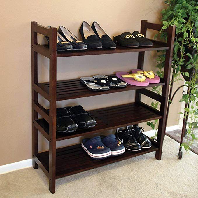 Home Accents Mahogany Veranda 4 Tiers Shoe Rack