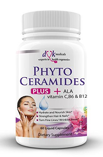 Phytoceramides 350 Vitamin C ,B6 ,B12 and ALA from DVK Medicals : Skin Rejuvenation and Restoration from Inside Out : Anti Aging Anti Wrinkle Skin Care : Healthy Hair Skin and Nails :2 months supply ** Check this awesome product by going to the link at the image.