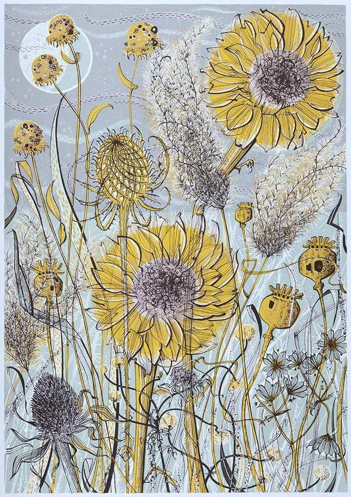 Autumn Garden, Norfolk, Prints from Angie Lewin