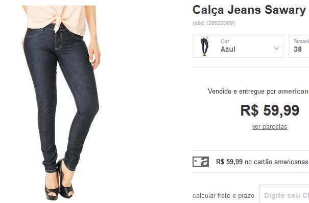 Calça Jeans Sawary Levanta Bumbum >