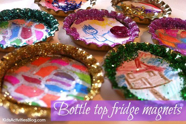 Google Image Result for http://kidsactivitiesblog.com/wp-content/uploads/2012/11/Homemade-Christmas-gift-bottle-top-magnets.jpg