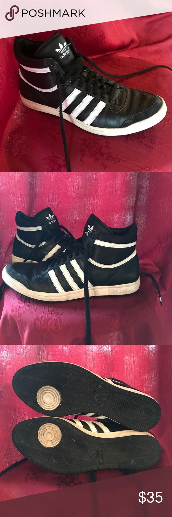 Adidas Sleek Series High Tops Adidas Sleek Series Hightops — Size 8 women's. Gently used, in lovely condition. I wear a 7.5 usually, & these fit me well, seeing as they are narrow. adidas Shoes Sneakers