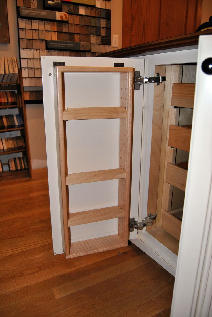 Kitchen Cabinet Spice Rack Ideas