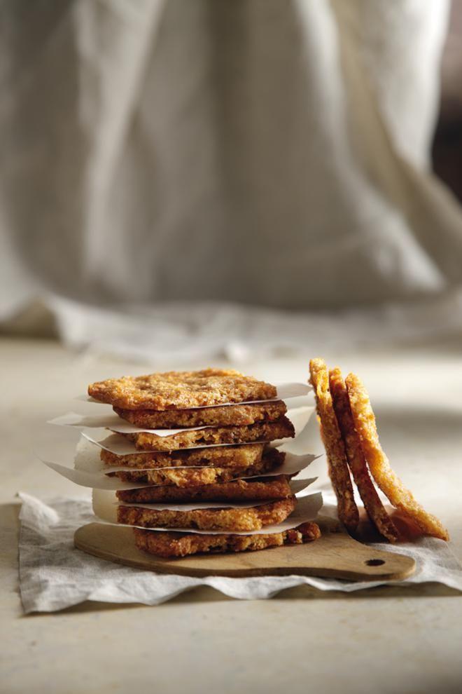 Μπισκότα τραγανά με καραμελωμένα φουντούκια