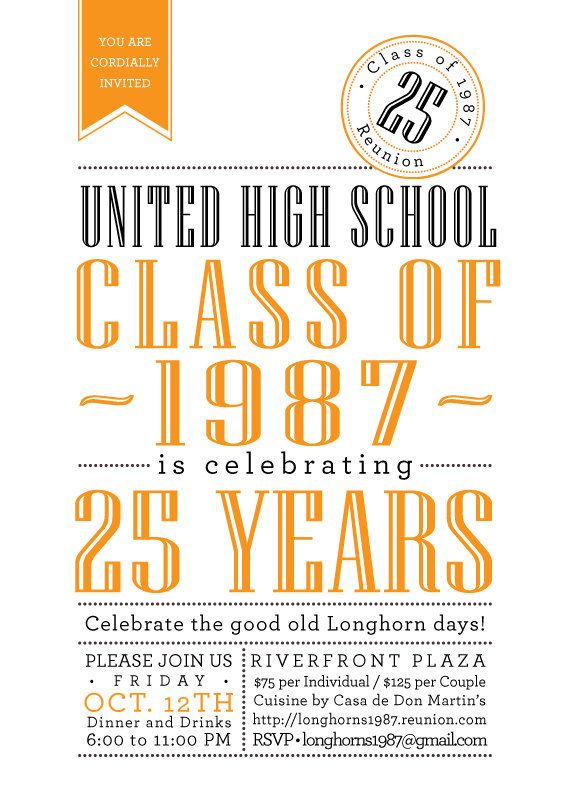 81 best Schlagle c o 94 20th Reunion images on Pinterest Class - best of invitation reunion template