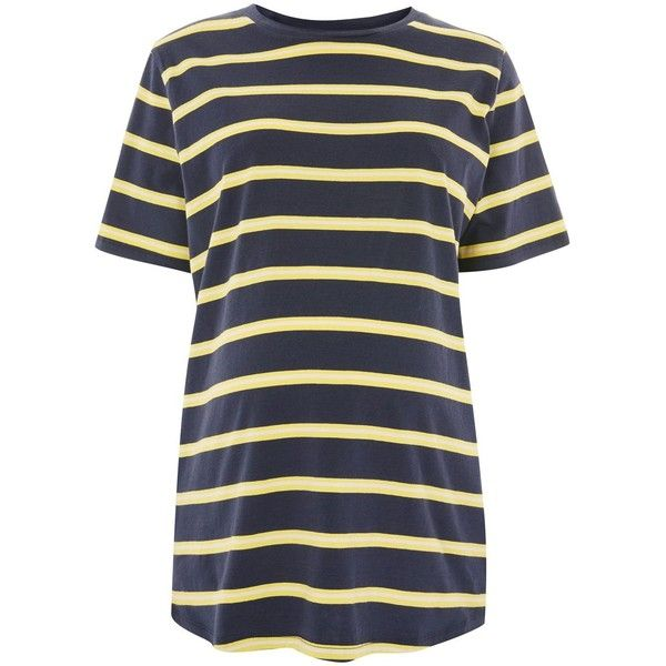 Topshop Maternity Wide Striped T-Shirt (£15) ❤ liked on Polyvore featuring maternity