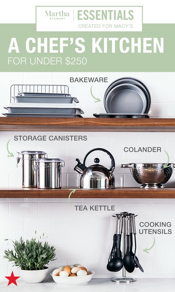 Stock Your Kitchen For Less Than You Think Score Bakeware A Chef S Pan Cast Iron Skillet Cooking Utensils Frying Pans And More For Un Kitchen Collection Home Home Decor