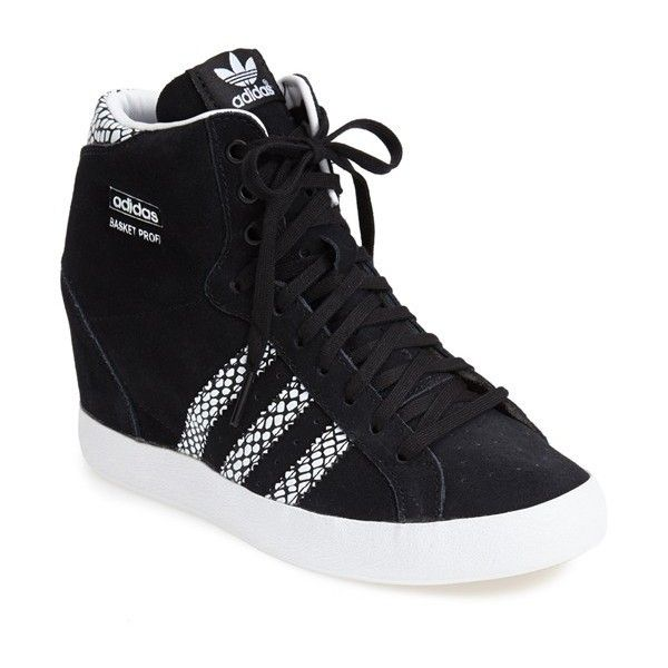 Women's adidas Hidden Wedge Sneaker (1,495 MXN) ❤ liked on Polyvore featuring shoes, sneakers, suede sneakers, wedge trainers, adidas trainers, wedged sneakers and hidden wedge heel sneakers