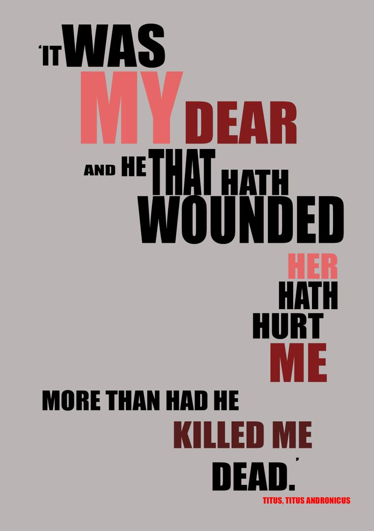 Quote from Titus Andronicus