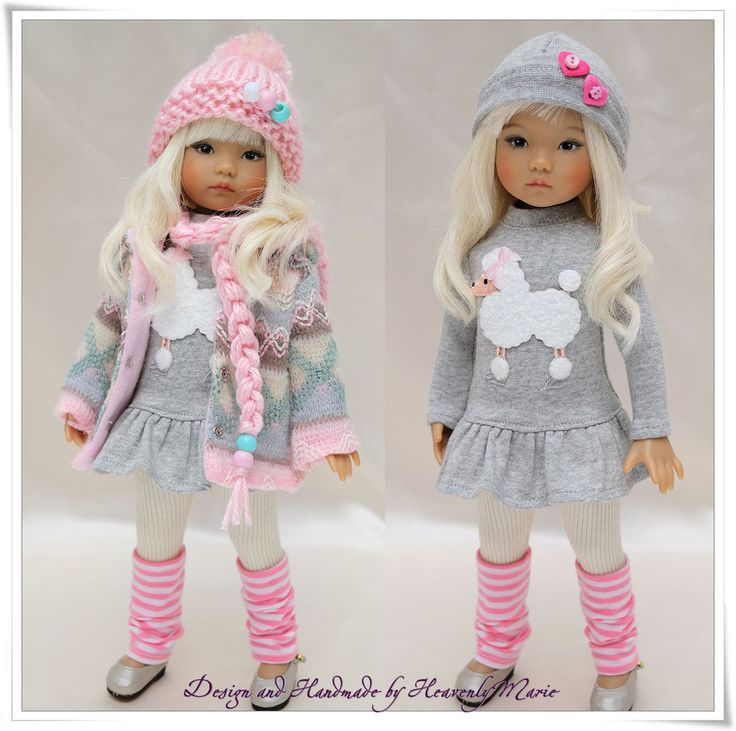 """Pink & Gray Outfit Set for Dianna Effner 13"""" Little Darling by Heavenly Marie #DiannaEffner"""