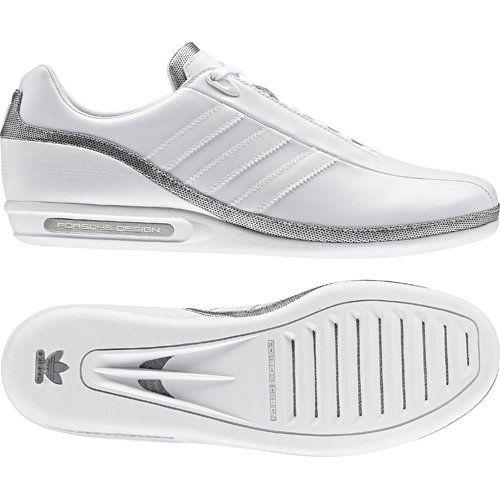 New Mens Adidas Original Porsche Design White Lace Trainers Shoes Size