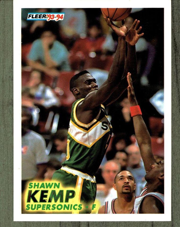 1993 Fleer Shawn Kemp 199 Basketball Card Seattle