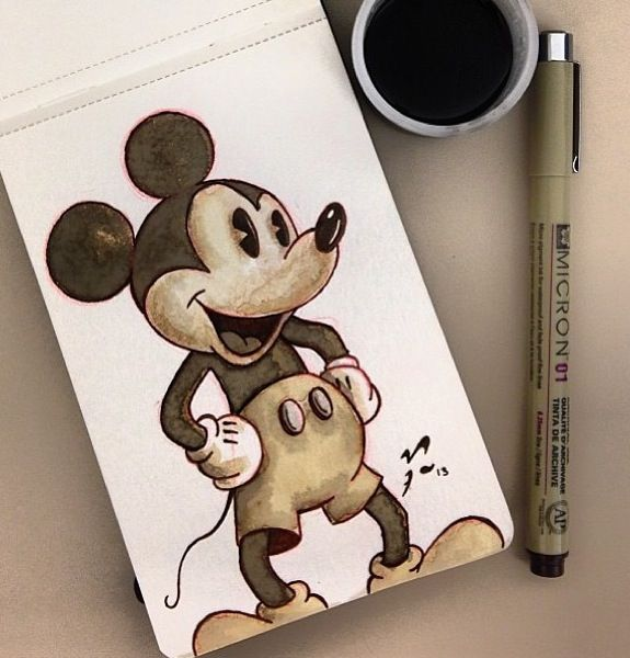 Mickey Mouse Drawing | Disney | Pinterest | Mickey Mouse ...