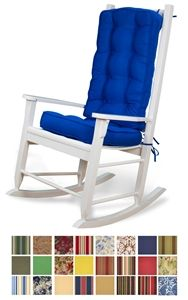 Complete your rocking chair with this Deluxe Sunbrella rocking chair cushion  set  Find out more about these awesome indoor outdoor rocking cushions 15 best Rocking chair pads images on Pinterest   Rocking chair  . Rocking Chair Pads Outdoor. Home Design Ideas