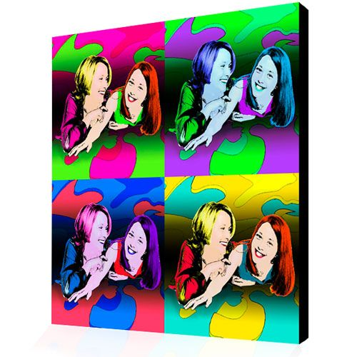 Pop Art from Your Photo Andy Warhol Panels Style