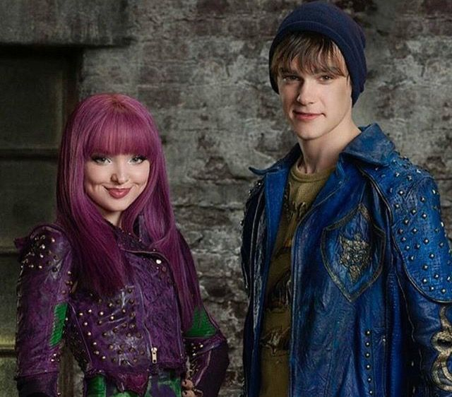 Dove Cameron as Mal and Mitchel Hope as King Ben