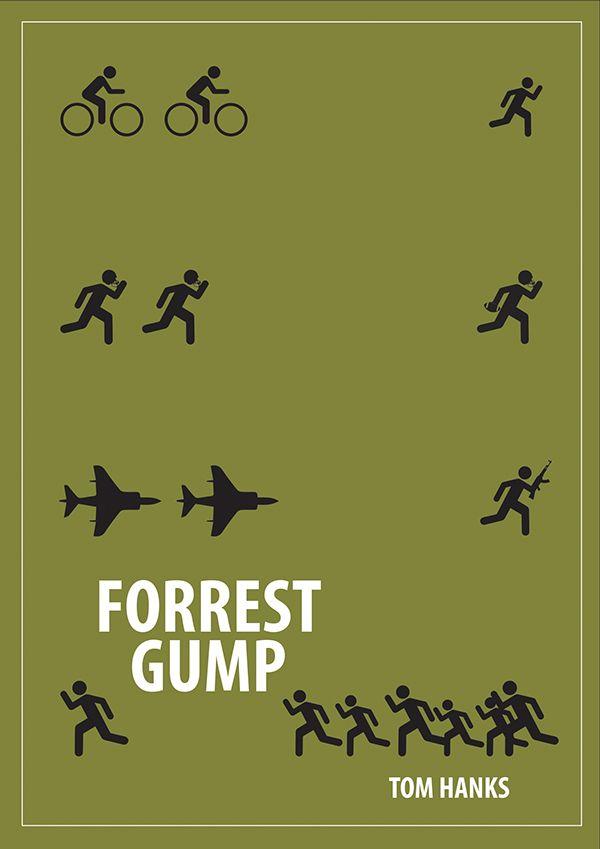 Forrest Gump (1994) ~ Minimal Movie Poster by Kiran R #amusementphile