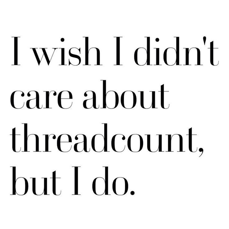 always always always care about thread count