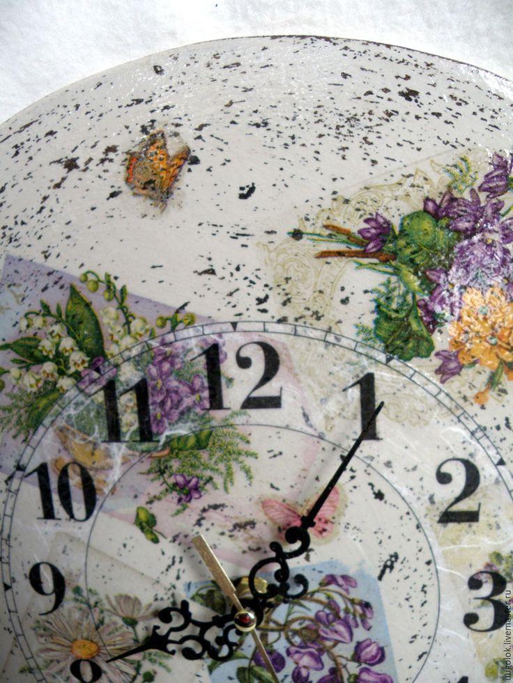 """Купить Часы настенные """"Весенние"""" - бежевый, весна, весенние цветы, весенние часы, весенний, часы"""