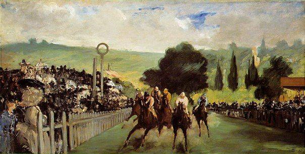 Эдуард Мане «Скачки на Лоншане» (1864).