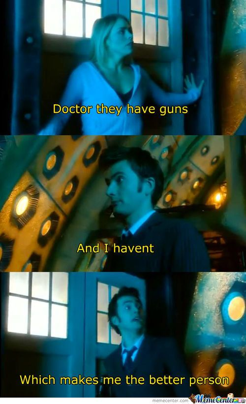 Doctor Who quotes, guns quotes, gun quotes, pacifism on TV