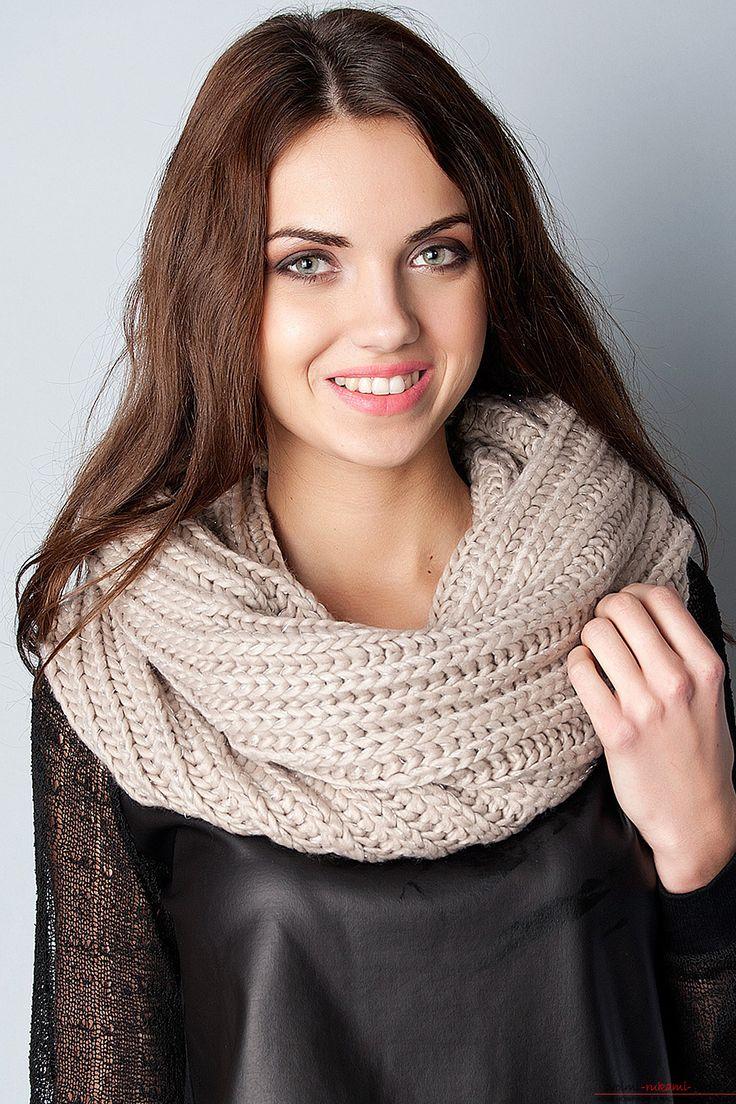 Вяжем спицами шарф – снуд своими руками. Подробное описание для начинающих и умелых мастериц со схемами