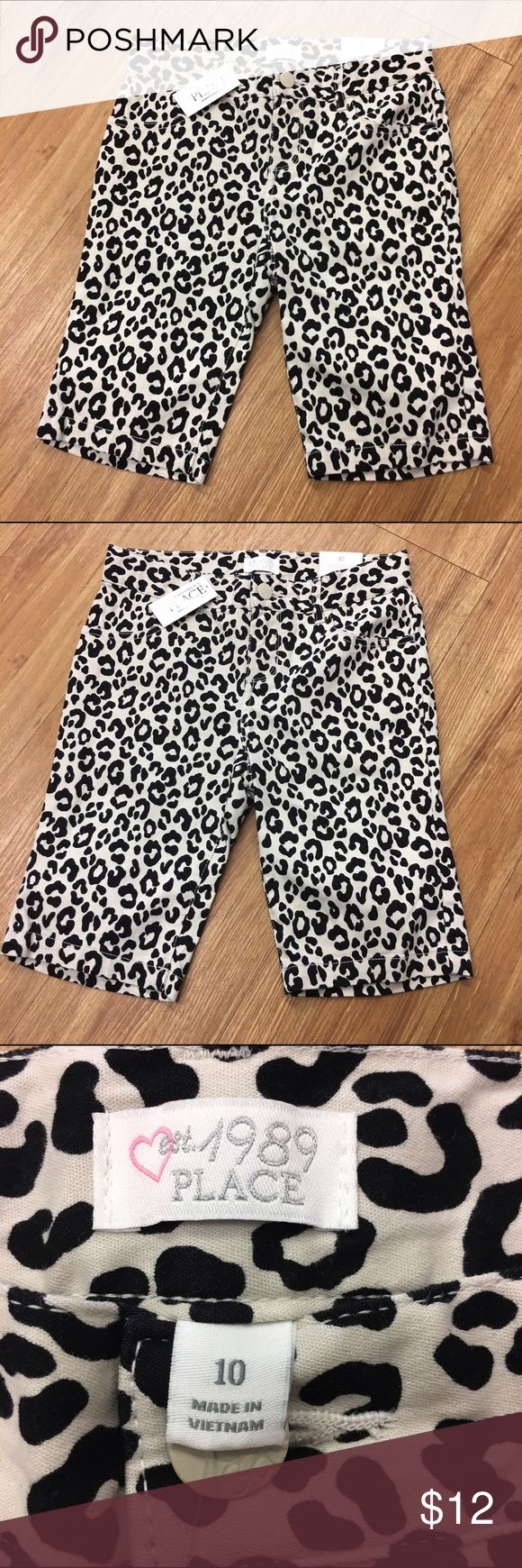 The Children's Place Leopard Print Shorts Skimmer The Children's Place Leopard Print Shorts Skimmer NEW NWT 10  Adjustable waist, longer length.  Super skinny fit with plenty of stretch.  Four pocket style.  #cheetah #animalprint #everylittlegirlneedsleopard #new #nwt #skimmer #shorts #adjustablewaist #longerlength #leopard Children's Place Bottoms Shorts