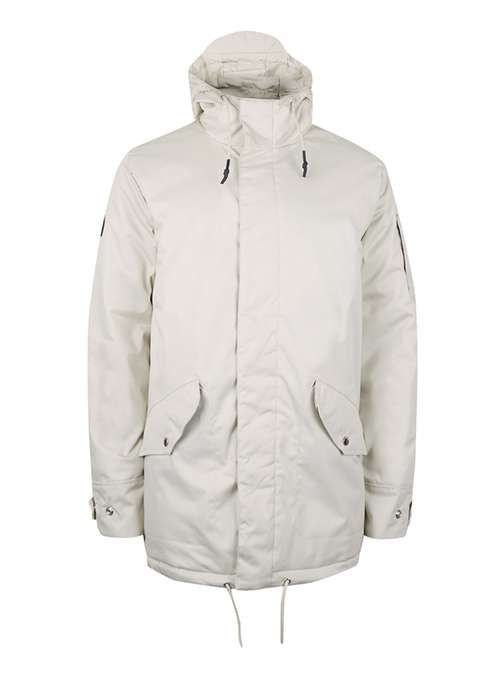 BELLFIELD Off White and Black Parka