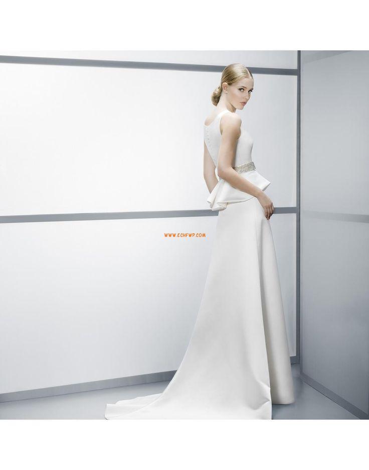 Sans manches Zip Naturel Robes de mariée pas cher
