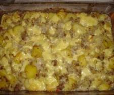 Rezept Spitzkohl Kartoffel Hackfleisch Auflauf - all in one - Rezept aus der Kategorie Hauptgerichte mit Fleisch