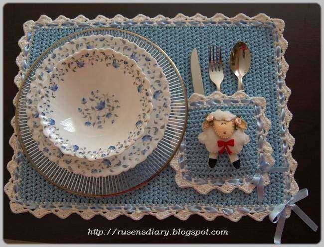 ! ! Süslü Butik ! !: Crochet Placemat / Tığ İşi Amerikan Servis