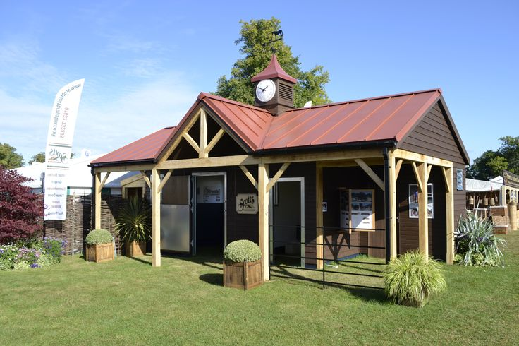 Scotts timber stables on show at Burghley Horse Trials 2017. #stables #Burghley #eventing