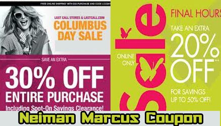 Neiman Marcus Coupon is coming under different forms such as sales coupon, last call coupons, discount codes and promo codes.