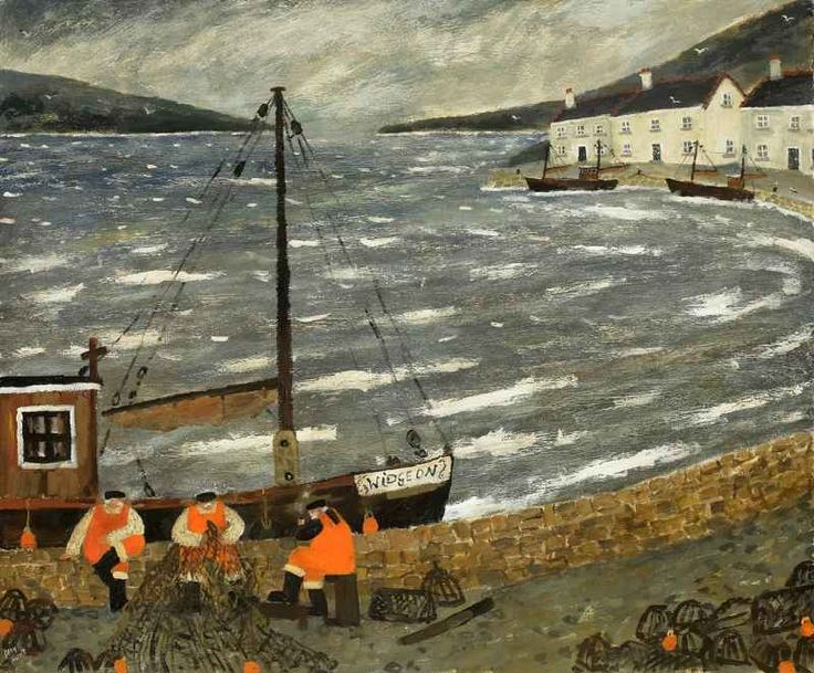 Gary Bunt - Widgeon:  Down on the harbour 3 fishermen sat Having a smoke  Having a chat Amongst the nets and lobster pots There were plenty of fishermen's tales to swap