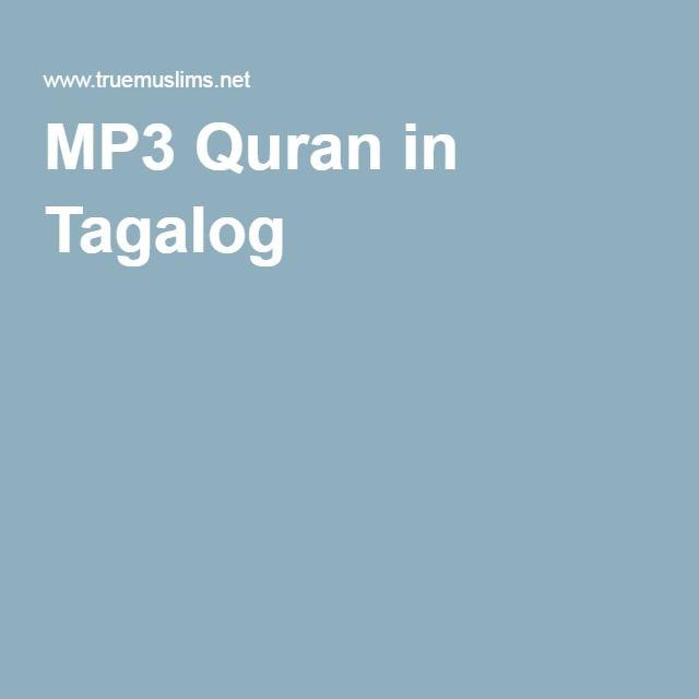 MP3 Quran in Tagalog